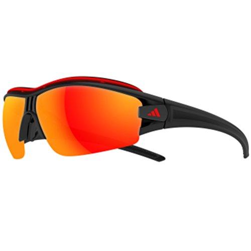 adidas Evil Eye Halfrim Pro S A198 6088 Rectangular Sunglasses, Black Matte & Black, 66 - Evil Eye S Halfrim Pro