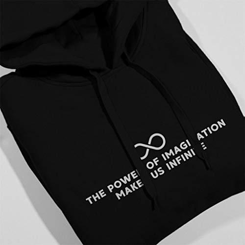 Muir Hooded Sweatshirt Infinite Coto7 Quote Women's Makes The Of Imagination Power Us Black John x77Z81Pgw