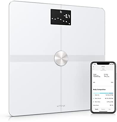 Withings Body+ – Digital Wi-Fi Smart Scale with Automatic Smartphone App Sync, Full Body Composition Including, Body Fat, BMI, Water Percentage, Muscle & Bone Mass, with Pregnancy Tracker & Baby Mode
