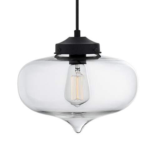 Casablanca Clear Glass One Light Pendant Lamp - Linea di Liara LL-P511-CRI