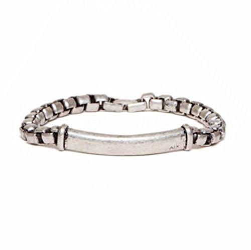 Armani Exchange AIX Mens Metal ID Bracelet (Armani Bracelet)