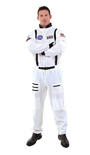 Underwraps Men's Astronaut, White, (Nasa Costume Adult)