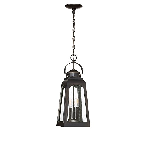 Quoizel GDM1908PN Guardsman Outdoor Ceiling Pendant Lighting, 3-Light, 180 Watts, Palladian Bronze (21
