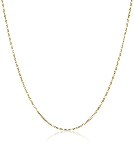 Gold Baby Curb Chain Necklace