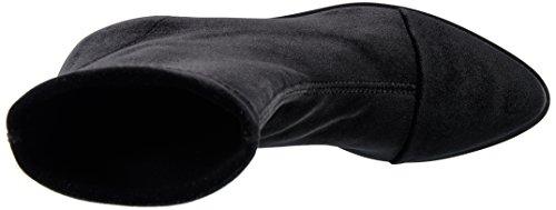 NR Rapisardi Women's E702 Biker Boots Black (Black Velvet 01vl-w) GZC8iq