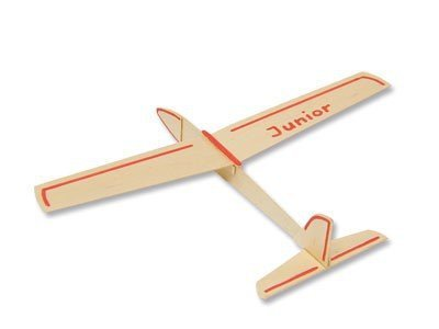 Segelflieger Junior Gleiter Flugzeug Segler 34 cm Bausatz 1 Stk. f. Kinder Werkset Bastelset ab 9 Jahren