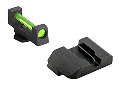 "Ultimate Arms Gear GFB-104 Glock 17,19,22,23,24,26,27,33,34,35,37,38,39 Fiber Front And Rear .130"" wide front .165"" notch by Ultimate Arms Gear"