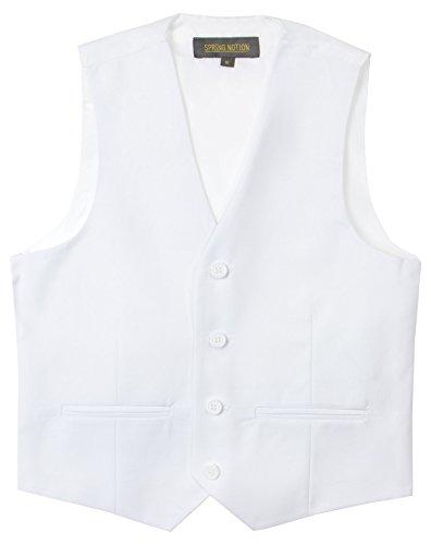 White Kids Vest - Spring Notion Big Boys' Two Button Suit 12 White Vest