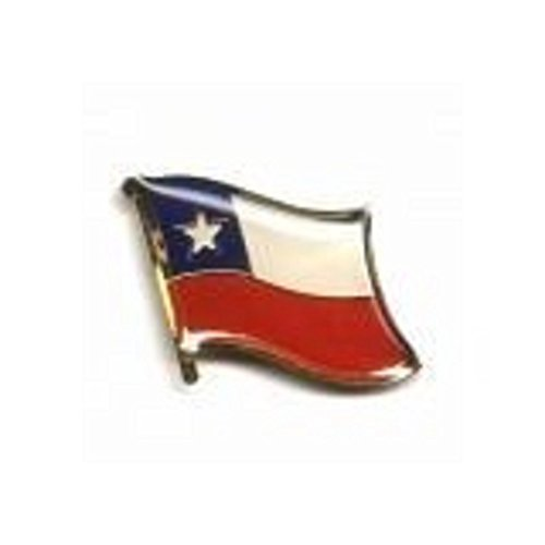 Chile Country Flag Small Metal Lapel Pin Badge .. 3/4 X 3/4 Inches ... New