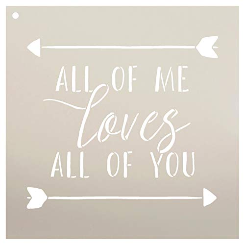 """All of Me Loves All of You Stencil by StudioR12 