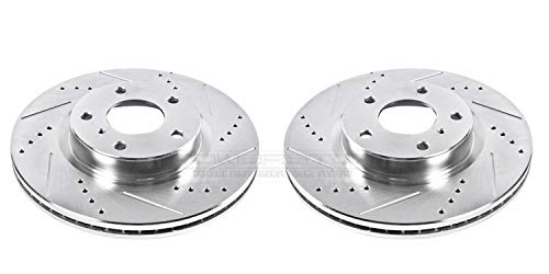 05 Nissan 350z Track - Power Stop JBR1105XPR Front Evolution Drilled & Slotted Rotor Pair