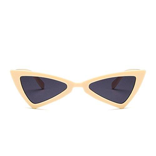 mujer gato para de sol sol Gafas de triángulo diseño ojo de UV400 de de viaje gafas qEtTxn8