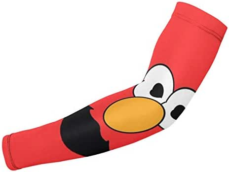 Sesame Street Elmo Face UV Protection Cooling Arm Sleeves - Compression Sun Sleeves for Men & Women -for Running,Fishing,Volleyball, Basketball & Football