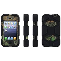 Survivor in Mossy Oak Camo with Belt Clip for iPhone 4/4s, obsession/black