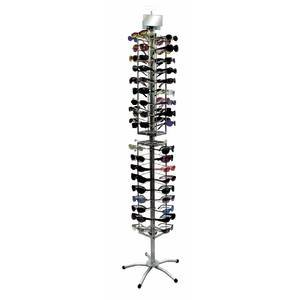 Silver Eyeglasses Stand Holds 72 - Sunglass Display Rotating