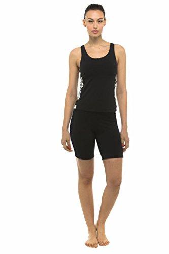 Private Island Hawaii UV Women Rash Guard Skinny Shorts Pants Black XX-Large