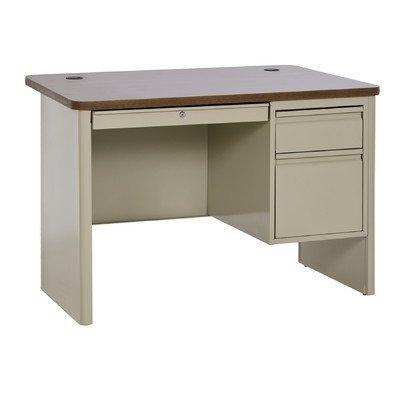 Sandusky Lee SP704830-PO 700 Series Single Pedestal Heavy Duty Teachers Desk, 30