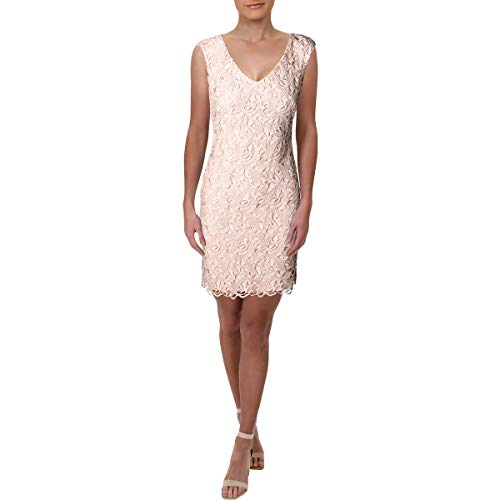 LAUREN RALPH LAUREN Womens Montie Halymenia Lace Cocktail Dress Pink 6 ()