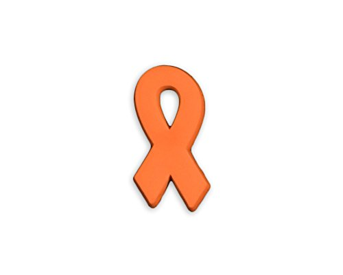 10 Pack Leukemia Awareness Orange Ribbon Silicone Pins (10 Pins in a -