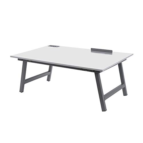 Pragati Systems Multipurpose Integrated Whiteboard & Laptop Table   Portable Study Desk & Lap Desk for Bed with Laptop…