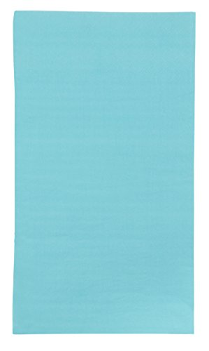 Blue Panda 120 Pack 2-Ply Disposable Paper Dinner Party Napkins, Teal, 7.5 x 4.25 Inches ()
