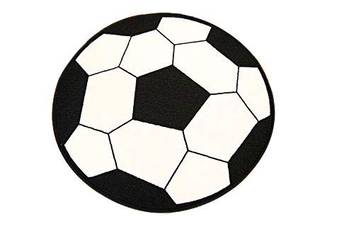 "furnish my place 720 soccer 3'3"" round area rugs, red"