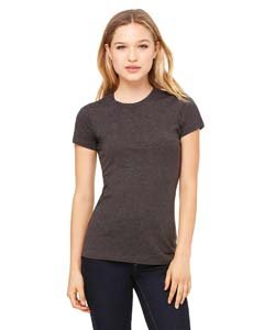 (Bella Ladies Super Soft Favorite T-Shirt, Dark Grey Heather, Medium)