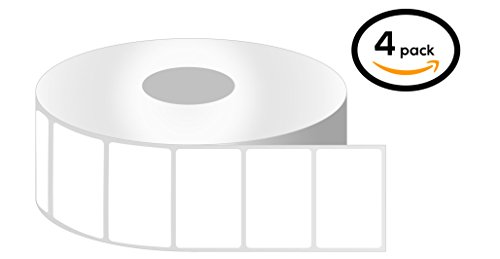 1 Inch Core - 2 x 1 Zebra Compatible Direct Thermal Quick Remove REMOVABLE Labels 04 Rolls for Zebra Desktop Printer GC420d GC420t GK420d GK420t GX420d GX420t GX430t LP2824 LP2824Plus LP2422 TLP2824 TLP2824Plus LP2844 LP2442 TLP2844 ZP450 ZD500 ZD500R ZP5