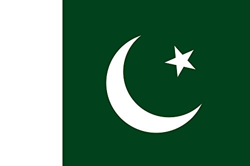 SoCal Flags® Brand Pakistan Flag 3x5 Foot Polyester - High Quality Weather Resistant Durable - 100d Material Not See Thru Like Other - Of Pakistan Brands