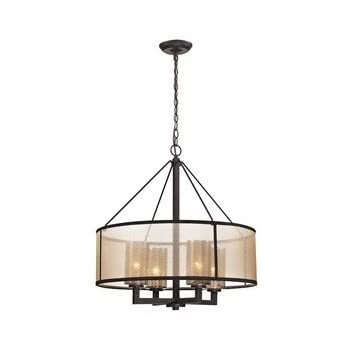 Golden Lighting 20734 GMT Chandelier with Clear Glass Shades