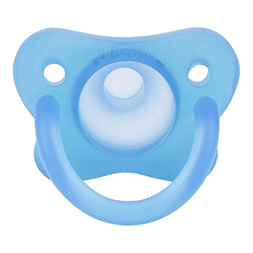 Dr. Brown's HappyPaci 100% Silicone Pacifier, 0m+, Blue, 3 Count