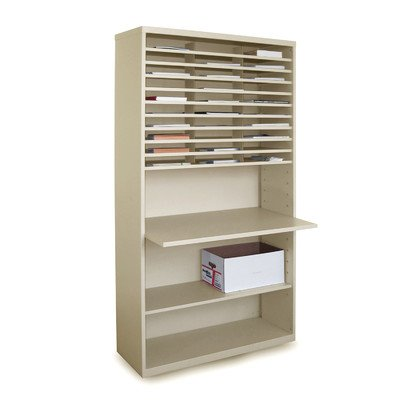 Mailroom Mail Sorter with Adjustable Work Surface by Marvel