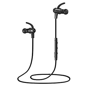 Bluetooth Headphones, VAVA MOOV 28 Wireless Headphones Sports Earphones in Ear Earbuds with 9 Hours Playtime (IPX6 Splashproof, aptX Stereo, Magnetic Aluminum Design, CVC 6.0 Noise Cancelling Mic)