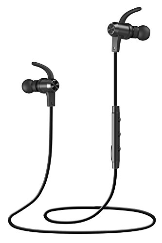Bluetooth Headphones, VAVA MOOV 28 Wireless Sports Earphones in ear Earbuds with Noise Cancelling Mic (8 Hours Playtime, IPX5 Splashproof, aptX Stereo, Magnetic Aluminum Design)