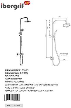 Columna Termostatica Regulable Cartucho Tecnologia Alemana Columna ...