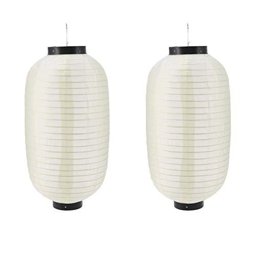 - Amosfun 2pcs Janpanese Lantern Silk Lantern Waterproof Lantern Foldable Lantern for Wedding Party Decorations (Rice White)