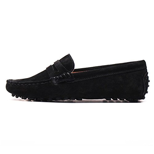 cheap Beststore VAO Shoes Women Leather Flat Shoes Casual Loafers Slip On Women's Flats Shoes Moccasins Lady Driving Shoes on sale