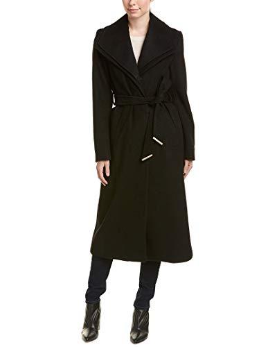 (T Tahari Womens Missy Alice Maxi Wool-Blend Coat, M, Black)