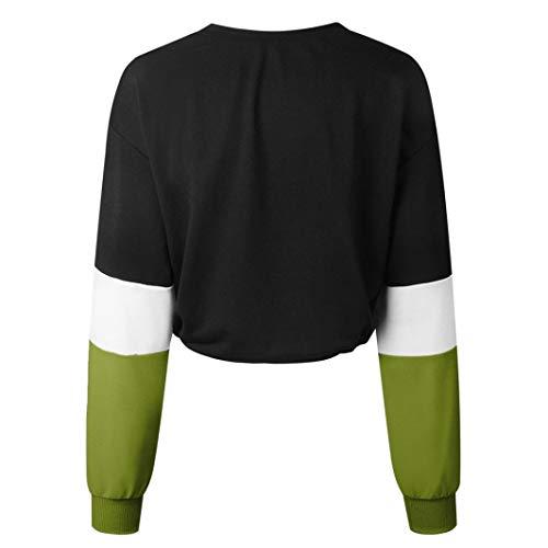 Elastico Tumblr Lunga Cappuccio Ragazza Con Corti Verde Felpe Camicetta Donna Dragon868 Felpe Pullover Manica Fw6qx7vnC