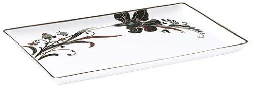 Mikasa Cocoa Blossom Rectangular Tray, 14