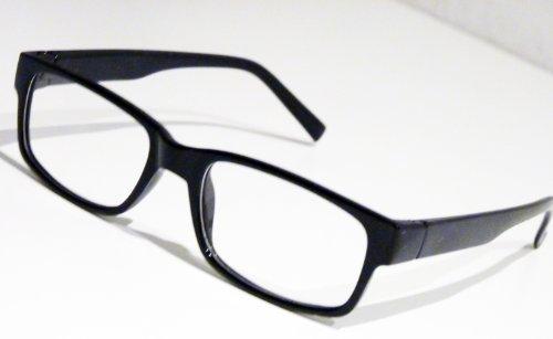 Slim Nerd Clear Brille Nerdbrille Geek Wayfarer Lesebrille ohne Stärke Pantobrille