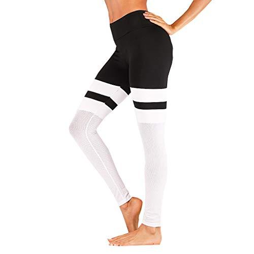 - BEUU Active Leggings for Women, Yoga Pants for Women, Woman Yoga Sport Gym Elastic High Waist Skinny Gauze Ankle-Length Pants Trousers Compression Pants Flare Leg Push Up White
