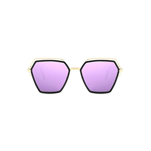 Trend vértigo Polygon Color Gafas de Moda conducción Polarized Irregular Viajes UV Personalidad C1 Espejo Sombra Anti Light C2 de Sol Anti qU7CxZwnBU