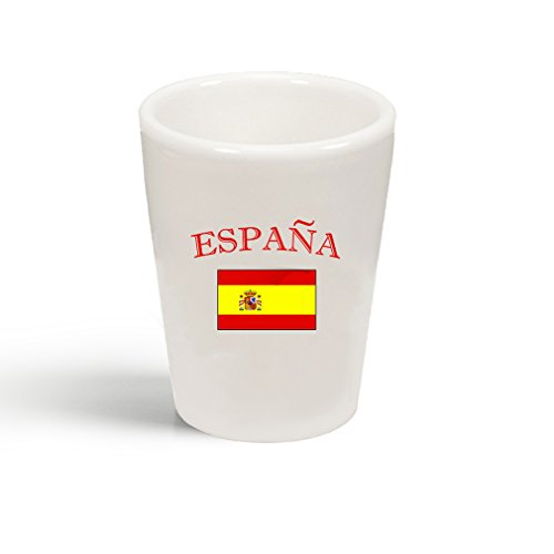 Style In Print Spain Country Original Name Ceramic Shot Glass Cup by Style in Print