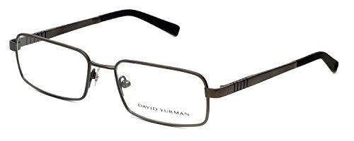 david-yurman-619-mens-rectangular-full-rim-eyeglasses-eyewear-55-18-140-light-gray