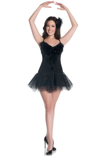 [Mystery House Costumes Teen Swan, Black, Small] (Swan Halloween Costumes)