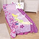 "JF Disney Fairies Tinker Bell Powder Flowers Fleece Blanket, 62""x90"""