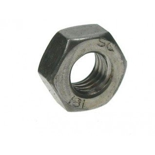 Metric Hexagonal (Hex) Full Nut Grade 10 Mild Steel Self Colour M12 12mm (Pack of 25 nuts) AHC