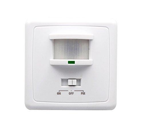 Hanperal 220V 160 Infrared PIR Motion Sensor Recessed Wall Lamp Bulb Switch 2-in-1