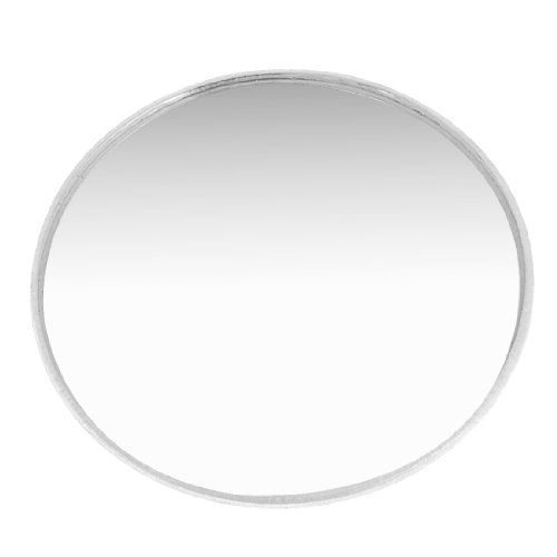 """Silver Tone 3"""" Dia Round Adhesive Rearview Blind Spot Mirror for Auto"""